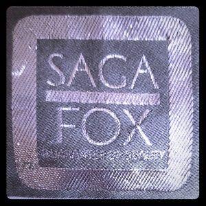 VINTAGE Saga Fox Blue Cox Fur Short Jacket